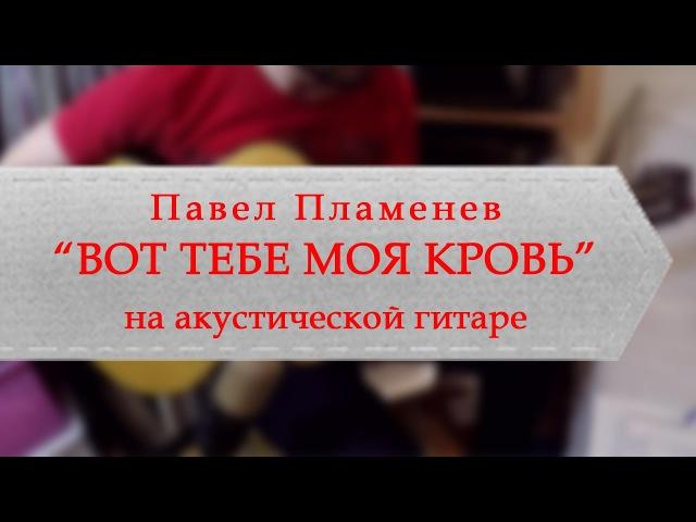 Павел Пламенев - Вот тебе моя кровь (на акустической гитаре)