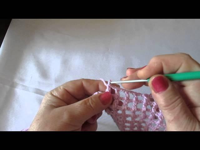 Урок 11 Прибавление и укорачивание рядов в сетке крючком