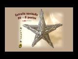 Estrella 3D de cinco puntas con papel periódico - 3D five-pointed star with newspaper