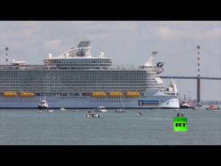 إطلاق أول رحلة تجريبية لأكبر سفينة لنقل الركاب في العالم