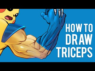 How to Draw Arms Back View - Triceps Anatomy for Artists