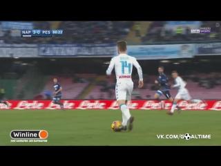 Наполи - Пескара 3:1. Обзор матча. Италия. Серия А 2016/17. 20 тур.