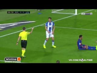 Барселона - Леганес 2:1. Лионель Месси (пенальти)
