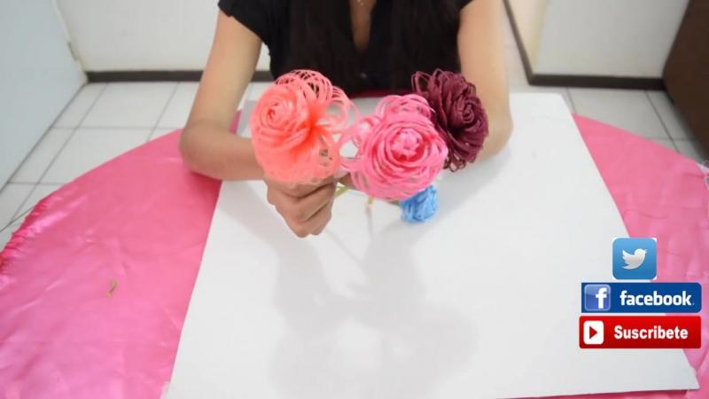 Como hacer una rosa de tela Fabric Flowers Roses Dia de las madres Loveluzlop