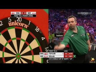England vs Northern Ireland (PDC World Cup of Darts 2016 / Semi Final)