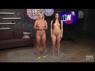 Vera Bambi, Elise Laurenne - Naked News 13-05-2016