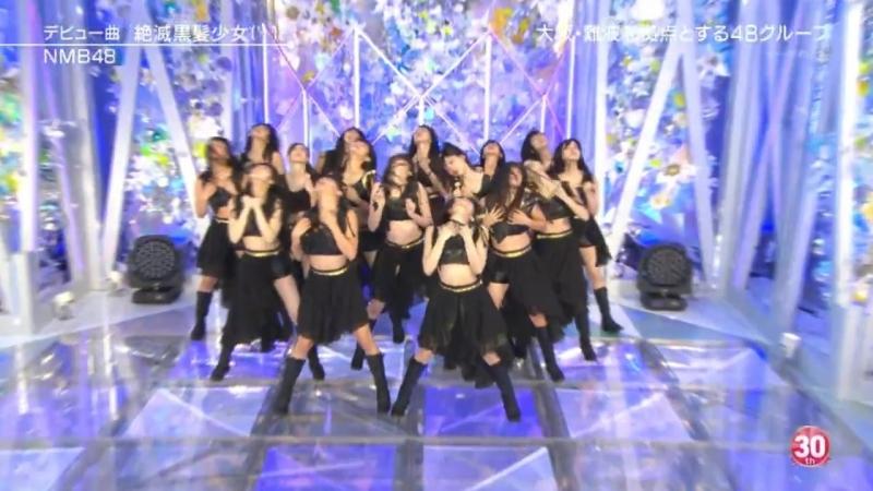 HKT48NMB48SKE48 - Suki! Suki! Skip!Zetsumetsu kurokami shoujoTsuyokimono yo (MUSIC STATION Ultra FES 2016.09.19)