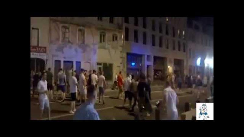 Массовая драка фанатов Англии и болельщиков России EURO2016   Ночной беспредел в Марселе на ЕВРО
