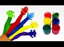 Семья пальчиков на русском Цветные Монстрики Песенка про пальчики Finger Family для с ...
