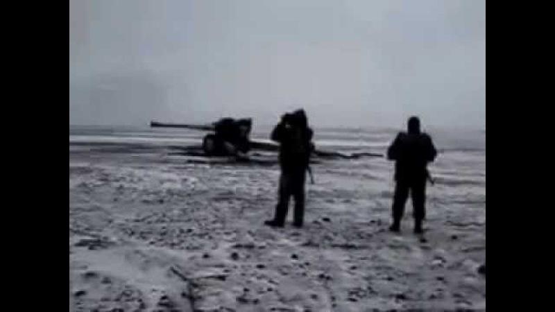 Разрыв ствола гаубицы ВСУ при выстреле.