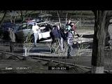 Жестокое избиение старика новой полицией. Видео с камеры наблюдения. Киев. 17.03.2017