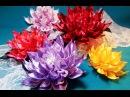 Ribbon flowers new dahlia Flores de cintas dalias nuevas Цветы из лент новый георгин МК