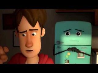 Мультфильм HD в 3D Не обижай холодильник, а то сбежит...