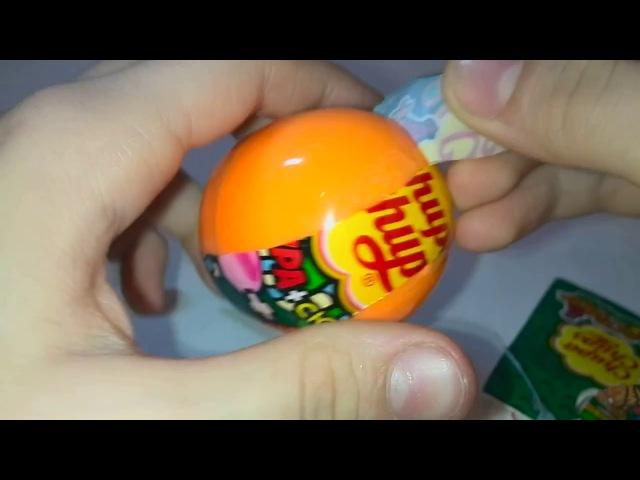 Открываем Chupa Chups с сюрпризом. Ужастики - прилипучки. Видео для детей.