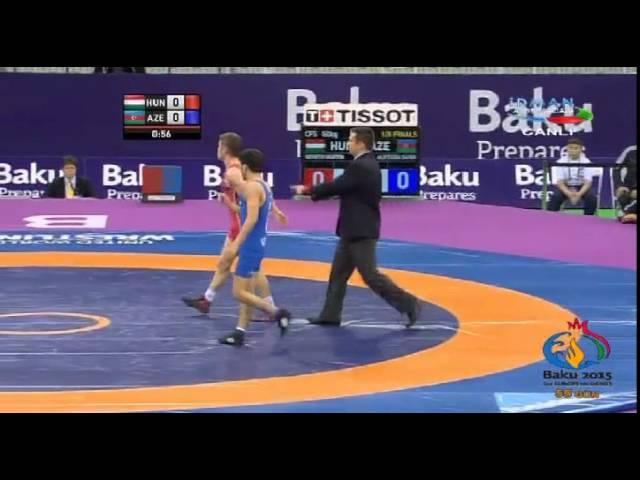 2015 Azerbaijan Wrestling Federation Cup-FS 50 kg-Németh Márton(HUN)-Sahin Alfzada(AZE)