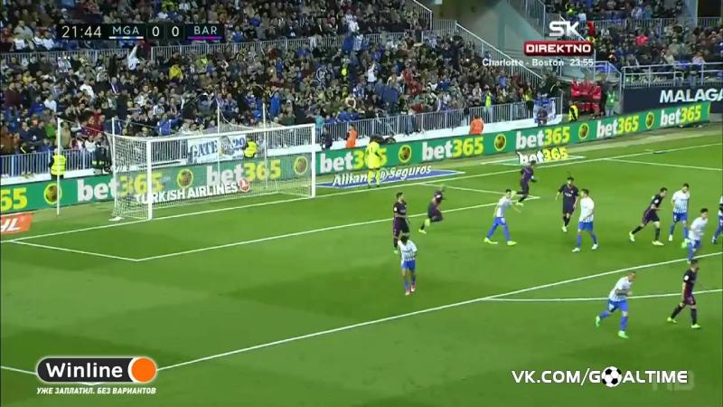 ГолТВ рф Малага Барселона 2 0 Обзор матча Ла Лига