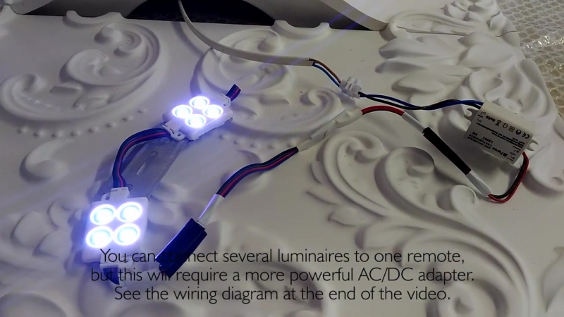 Artpole LED modules mounting