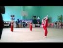 Показательное выступление на открытом турнире по художественной гимнастике, Восточный танец