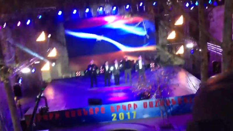 Так в Тигранакерте (Арцах / Нагорный Карабах) встречают Новый 2017-ый Год