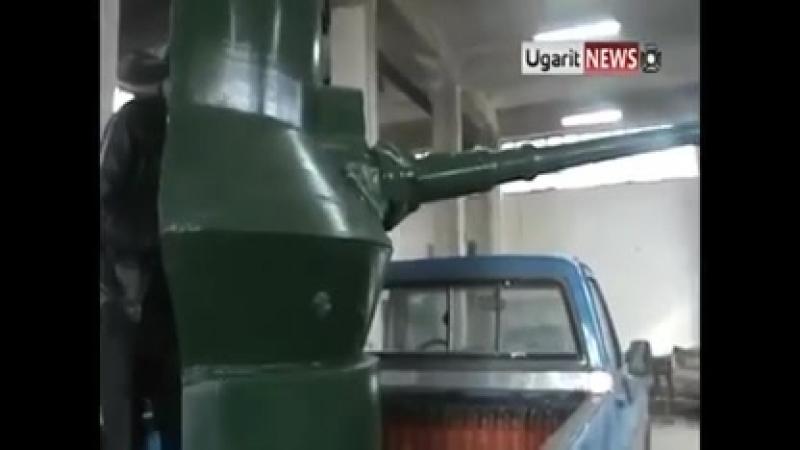 Сделано в Сирии. Демонстрация гантрака на базе пикапа GMC.
