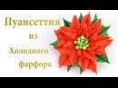 Пуансеттия ♥ Рождественские украшения из холодного фарфора Подробный мастер класс по лепке и сборке