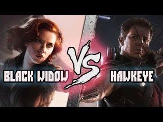 Черная вдова (Наташа Романова) vs Cоколиный глаз (Клинт Бартон) / Black Widow vs Hawkeye Кто кого?