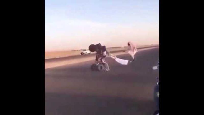 Дрифт арабов на квадроцикле