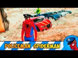 POLICEMAN SPIDERMAN ON TOY BIKE & SUPERCAR WITH INCREDIBLE HULK HAVE FUN IN + CARS PARTY