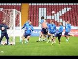 Тренировка сборной России в Грозном