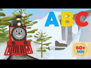 The Alphabet Adventure With Alice and Shawn the Train - FULL CARTOON - (Learn letters and words)