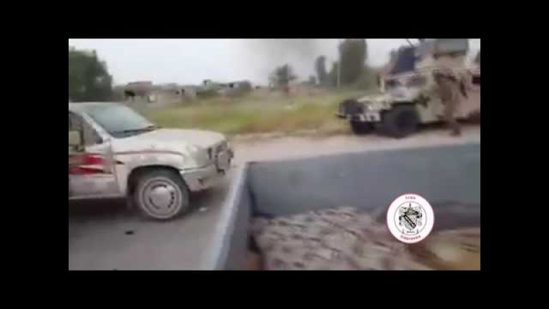 Iraq, Fallujah - Estimated 150 ISIS/ISIL/IS Vehicle Convoy Hit by Iraqi Air Force 06/29/2016