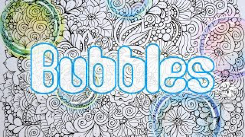 How to Draw a Bubble with Colored Pencils on the Zendoodling Background