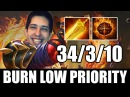 Low Priority with W33 - Max HP Burning Build Ember Spirit Dota 2 7.01 Patch