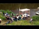 Сплав по реке Угра на плотах Спуск на воду второго плота