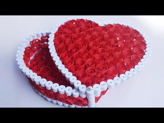 Quilling Gift Box Ideas| DIY Heart for Valentine | HandiWorks 53