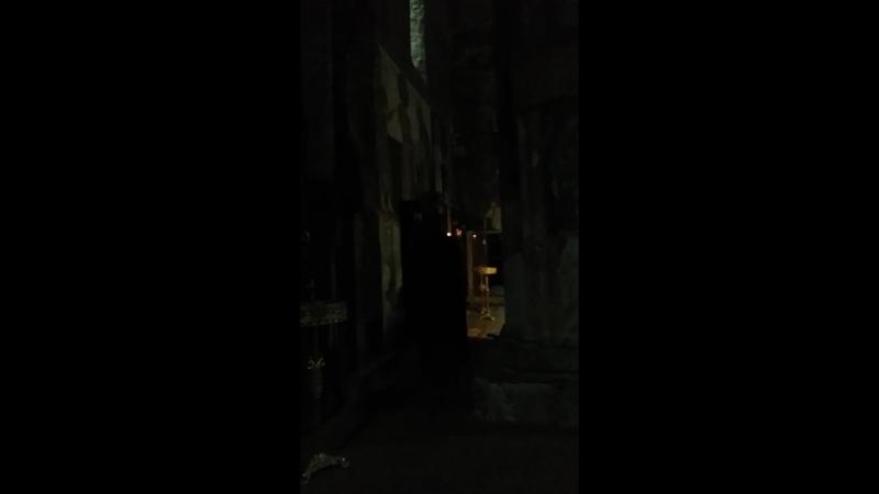 Монастырь Зарзма, вечерняя молитва.