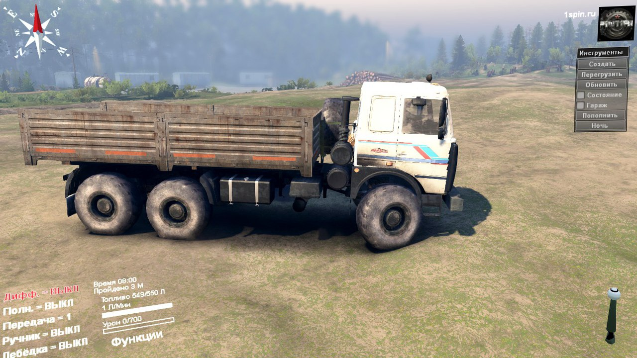 МАЗ-6317 6X6 для SpinTires 03.03.16 для Spintires - Скриншот 1