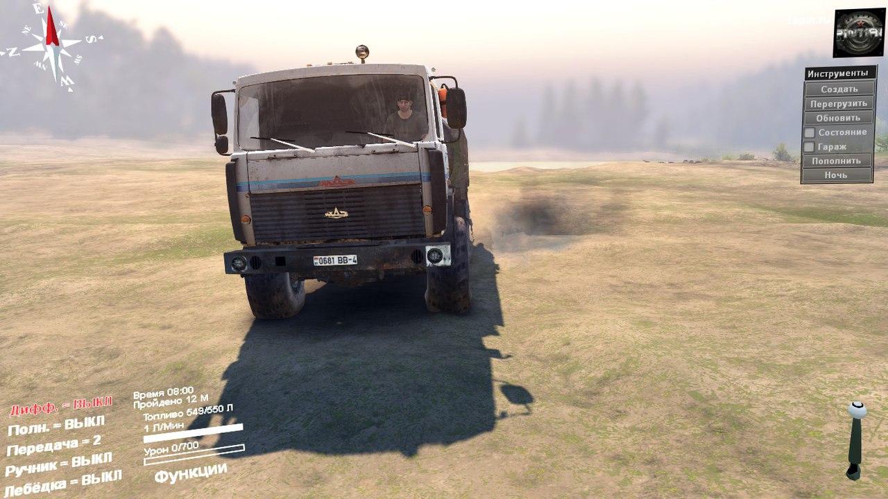 МАЗ-6317 6X6 для SpinTires 03.03.16 для Spintires - Скриншот 3