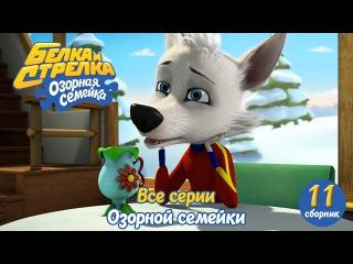 Озорная семейка - Белка и Стрелка - Все серии подряд (сборник 11) Поучительный муль...