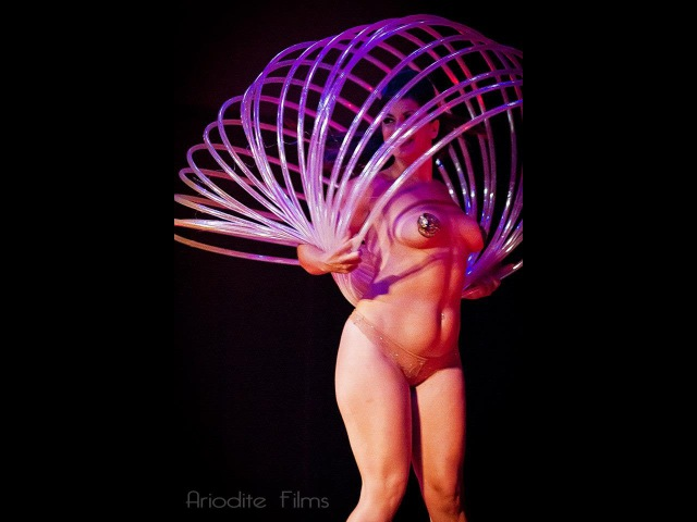 Valentina's Slinky Hoop Burlesque at Seduced by the Imaginarium Circus