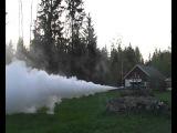 H2O2 hydrogen peroxide rocketengine, test #1