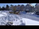 Snow Plowing on Prince Edward Island CANADA