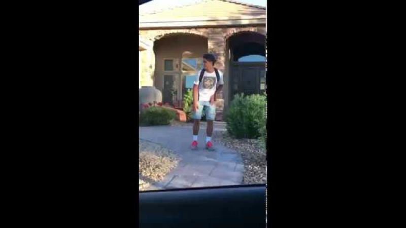 Kid goes hard to rap every morning before school