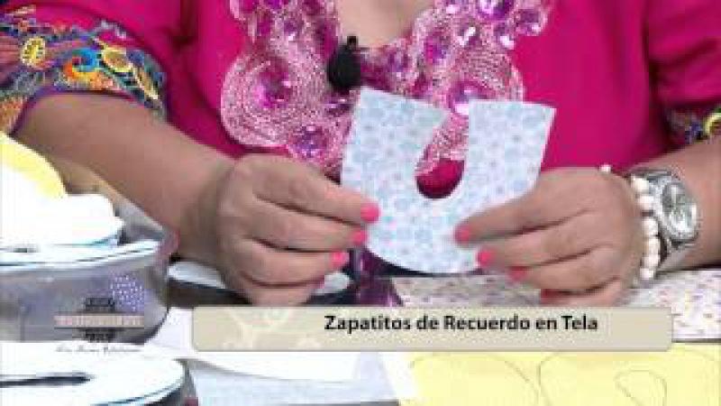 ZAPATITOS DE TELA PARA ESTE DIA DEL NIÑO EN MUJER AL AIRE