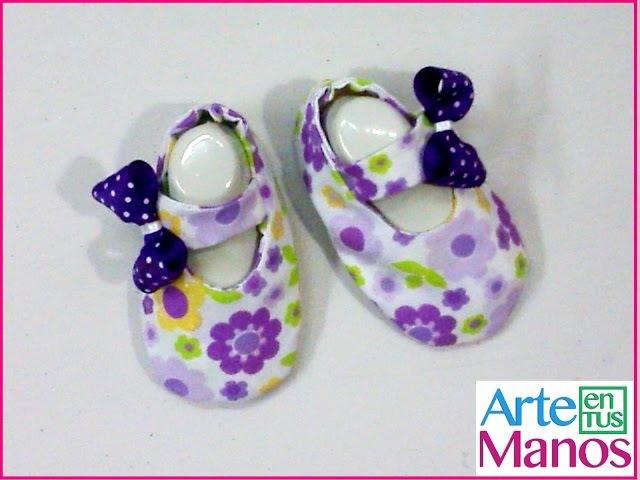Zapatos en Tela para Bebé paso a paso Arte en Tus Manos