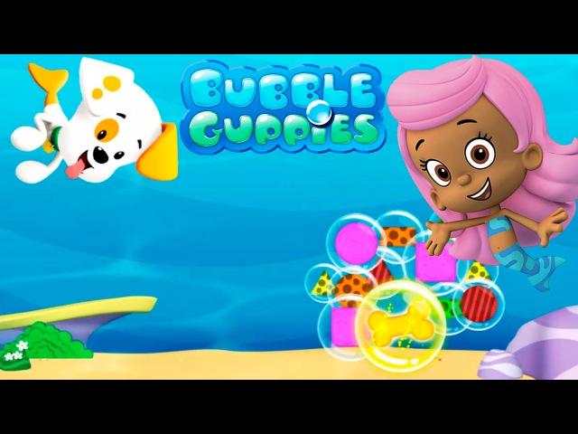 Гуппи и Пузырики Щенок Пузырик ловит шарики и корм Игра
