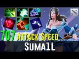 SumaiL Mirana Machine Gun 707 Attack Speed! Dota 2