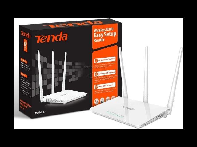 Обзор маршрутизатора Tenda F3 N300