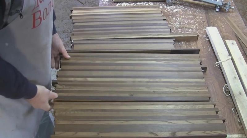 Торцевая кухонная разделочная доска из термодерева Butt kitchen hardboard from thermal wood