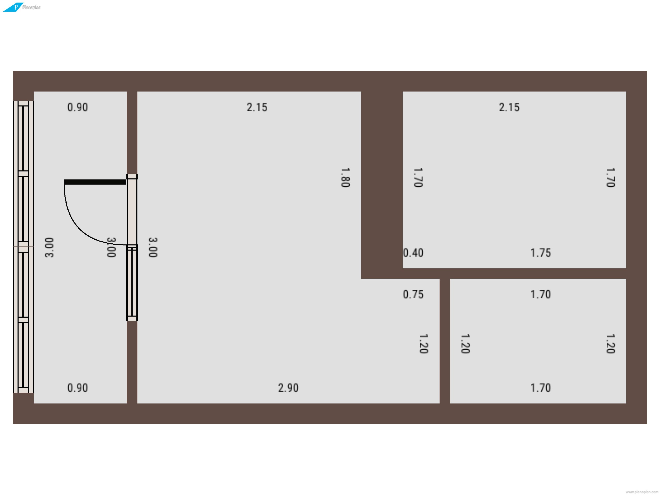 План создания уютного жилища на двоих в 17 метровой студии г.